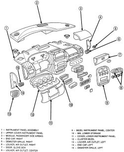 Upper Dash Panel Upper Dash Tray Wiring Diagram ~ Odicis