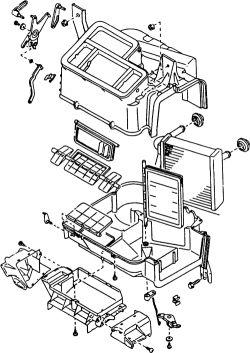 subaru impreza wiring diagram radio trailer light kit walmart | repair guides heater core removal & installation autozone.com