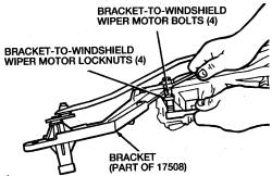 Windshield Wiper Hose Connector, Windshield, Free Engine