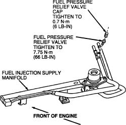 mercury mystique: fuel pressure regulator system..engine 2