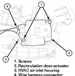 Service manual [How To Remove Heater Blend Door Actuator
