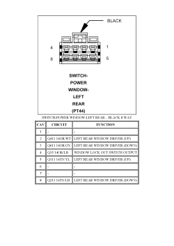 pt cruiser wiring diagram pioneer parking brake bypass | repair guides connector pin-outs (2007) switch-power window-left rear (pt44) - black (body ...