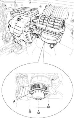 Hyundai Elantra Blower Motor Resistor Location