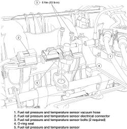 6 4l Fuel Rail Pressure Sensor Fuel Rail Wiring Harness