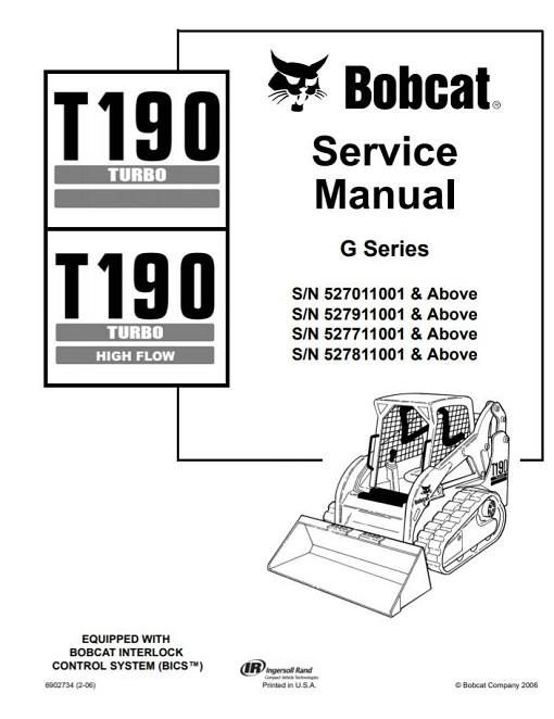 Bobcat T190 Turbo, T190 Turbo High Flow Service Manual