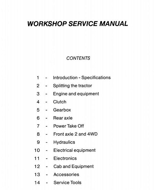 Massey Ferguson 6100 Series Tractor Service Manual
