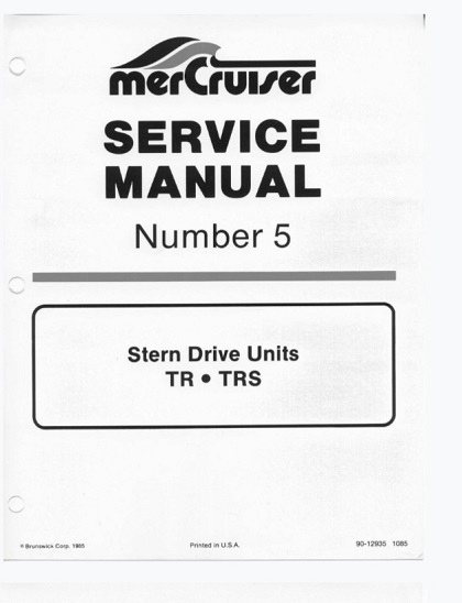 Mercury Mercruiser Marine Engines Number 5 Stern Drive