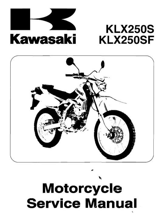 2009 Kawasaki KLX250S KLX250SF Service Manual : RepairManualus