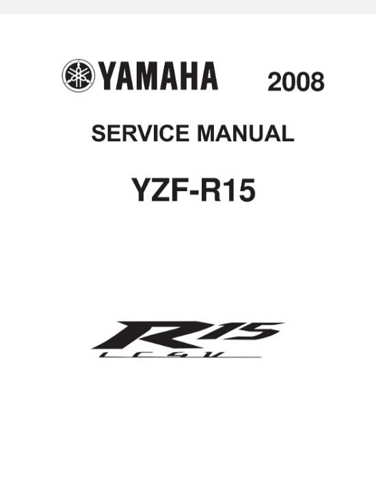 2008 Yamaha Yzf R15 Service Repair Manual : RepairManualus