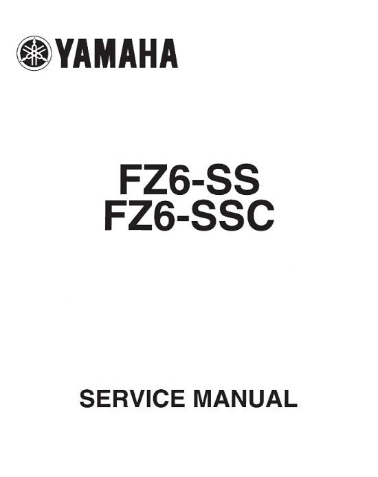 2004 Yamaha FZ6-SS FZ6-SSC Service Repair Manual