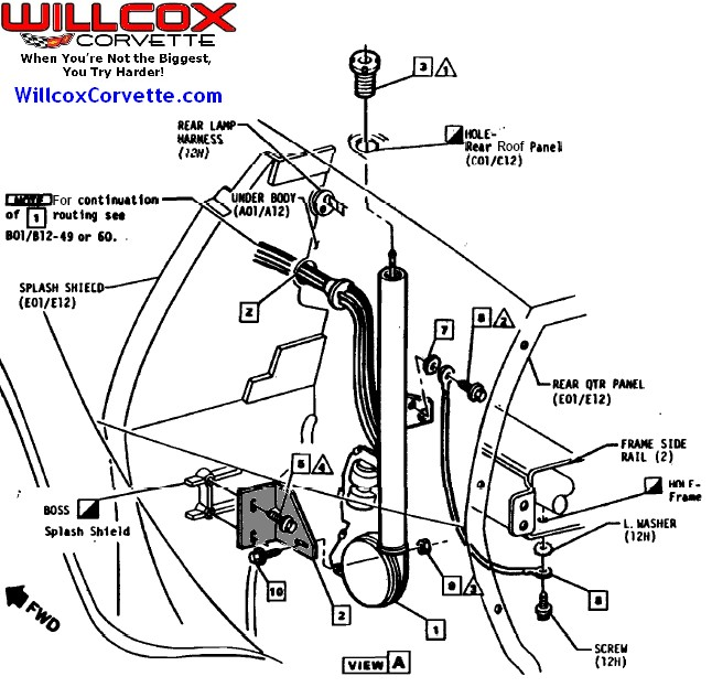 1984 Corvette Radio Antenna Wiring Diagram 1984 Corvette