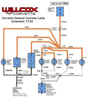 19771982 Corvette Wire Schematic Courtesy Lamp 7782 In