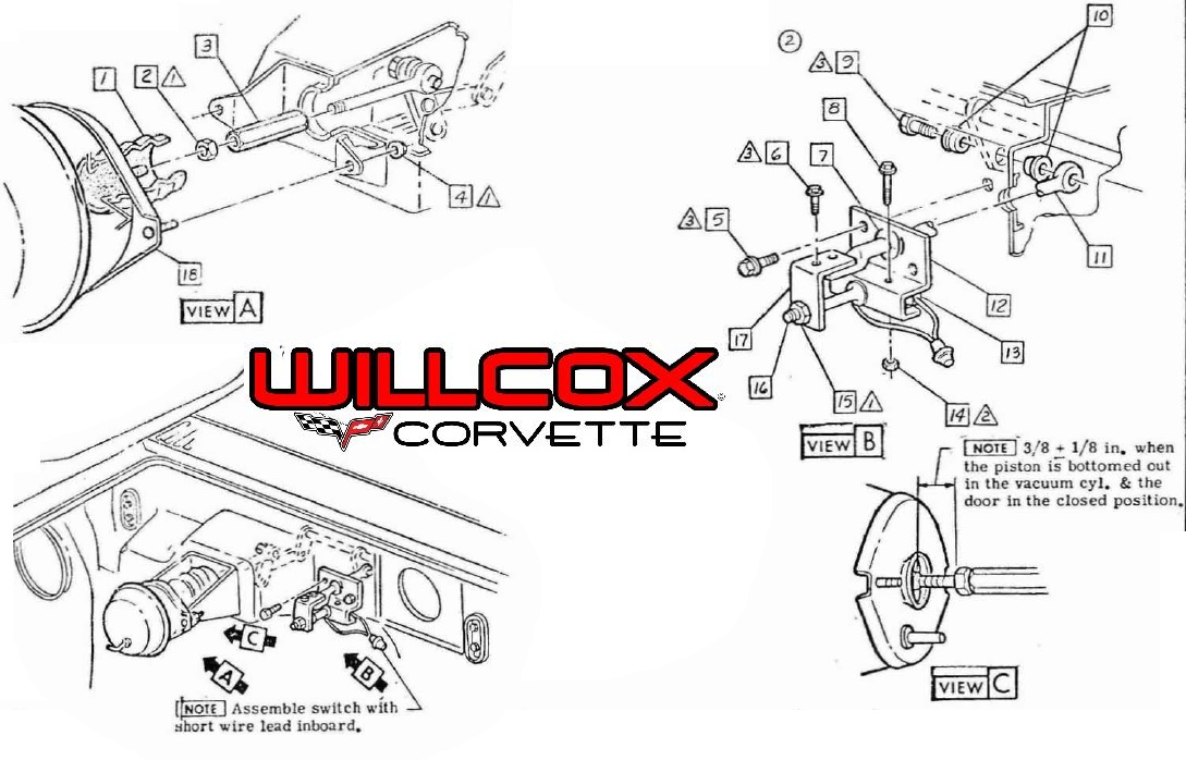 71 Corvette Wiper Diagram 1958 Corvette Stingray Drawings