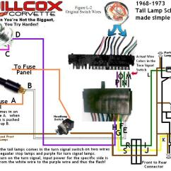 1976 Corvette Headlight Wiring Diagram Problem Solving Involving Sets Using Venn Diagrams 1968-1977 Wire Schematic 68-77 Tail And Stop Lamp Simplified | Willcox Corvette, Inc.