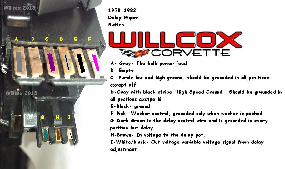 1979 corvette wiper wiring diagram one light two switches diagrams 1978-1982 switch testing w/pulse wipers | willcox corvette, inc.