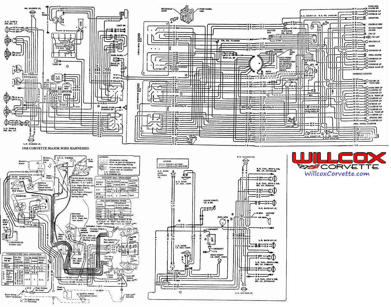 1964 Chevy Starter Wiring Diagram 1968 Corvette Wire Schematic 68 Corvette From The Aim