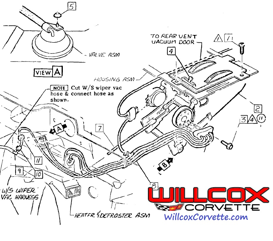 C3 Corvette Heater Control Vacuum Diagram, C3, Free Engine