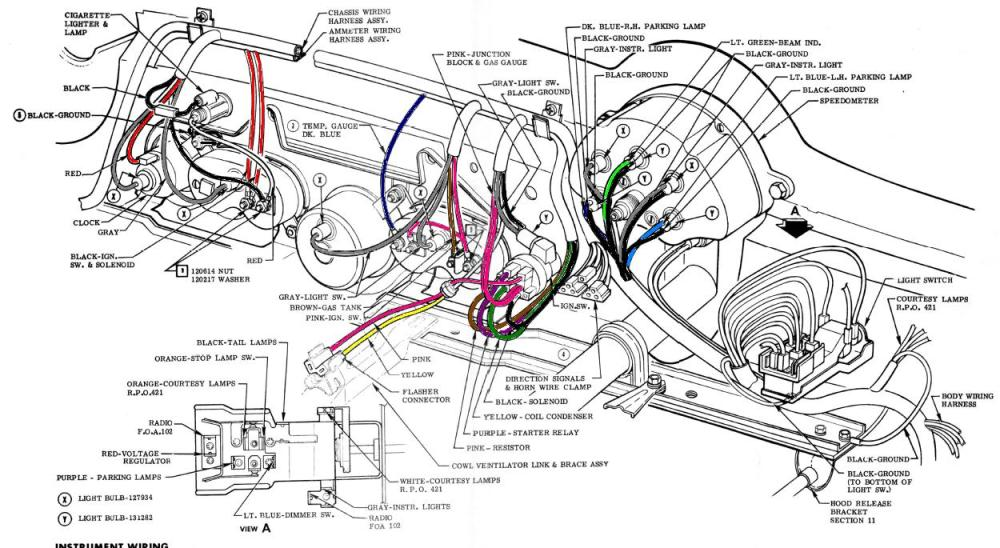 medium resolution of 1968 corvette wiring harness wiring diagram home 1968 corvette wiring harness diagram also 1969 corvette dash wiring