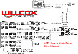 1982 Corvette StereoRadio Wire Schematic | Willcox
