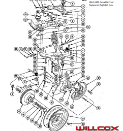 1963 1982 corvette front suspension exploded view [ 982 x 1095 Pixel ]