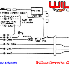 1976 Corvette Radio Wiring Diagram Rb25det S2 1978 Power Antenna Schematic | Willcox Corvette, Inc.