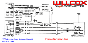 1978 Corvette Power Antenna Schematic | Willcox Corvette, Inc