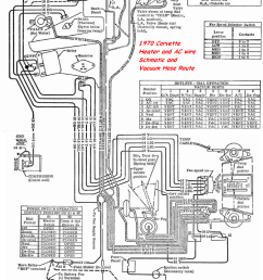 1970 heater and ac schematic and vacuum hose route [ 859 x 1126 Pixel ]