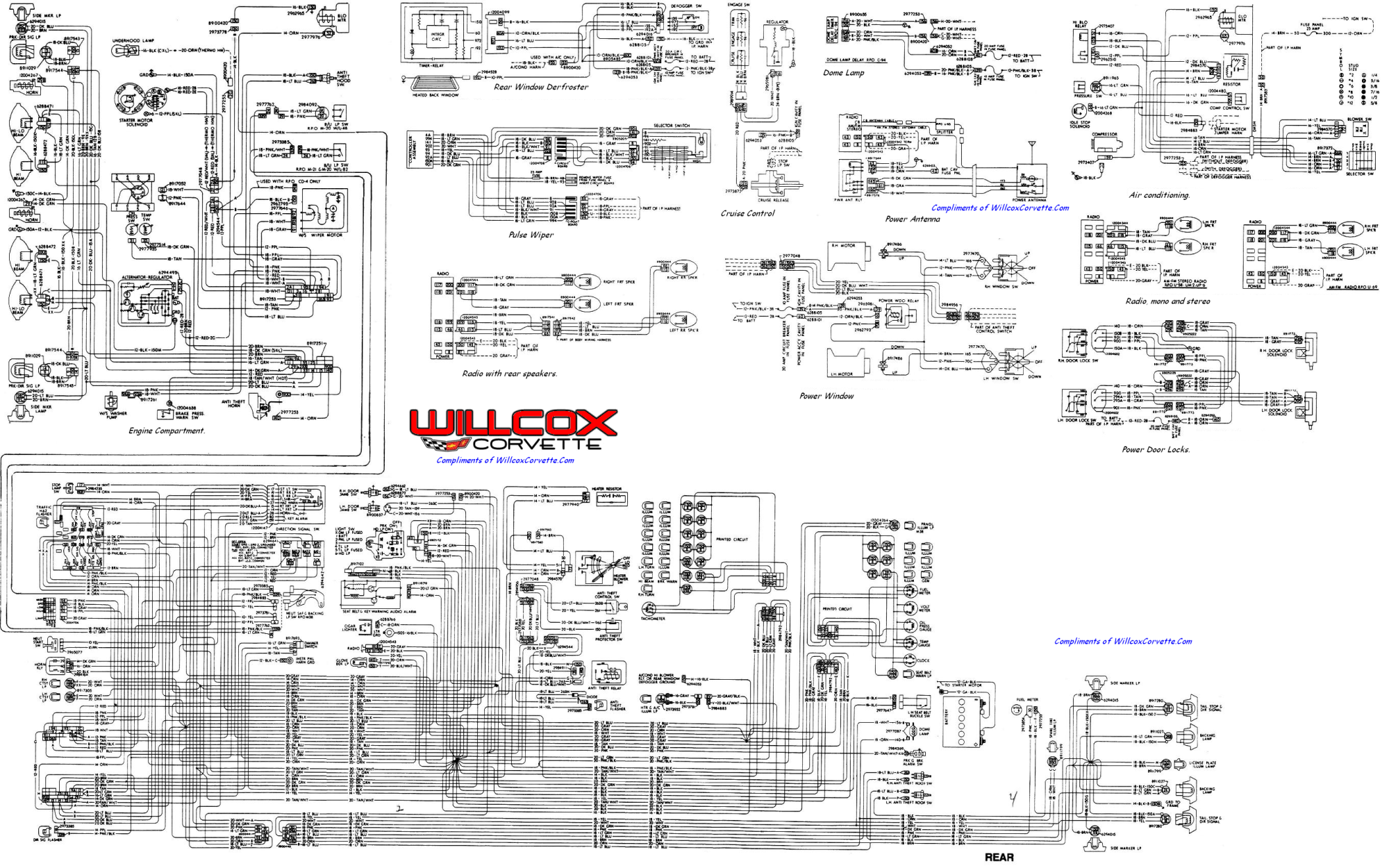 hight resolution of 1978 corvette tracer schematic willcox corvette inc rh repairs willcoxcorvette com 2002 mitsubishi montero sport engine