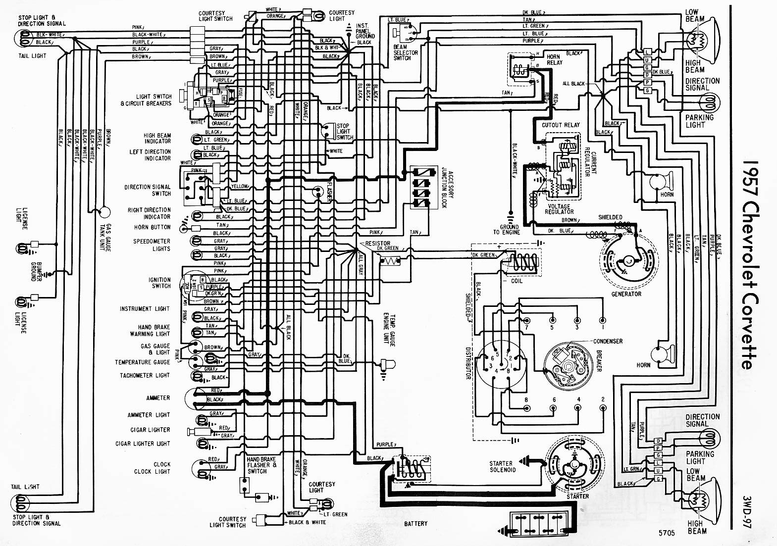 1979 corvette starter wiring diagram 7 pin flat caravan plug 1957 fuel gauge corvetteforum chevrolet