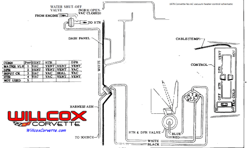 small resolution of 1979 corvette no ac heater control vacuum schematic 2