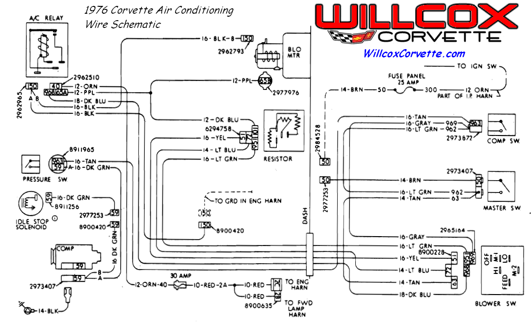 1976 corvette air conditioning wire schematic?resized665%2C408 1976 corvette wiring diagram efcaviation com corvette wiring schematic at soozxer.org