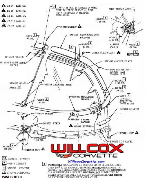 small resolution of 1958 1962 corvette windshield frame assembly from the aim