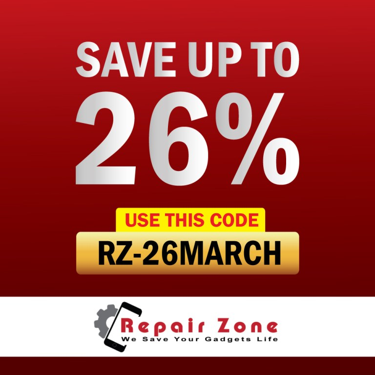 Get 26% Off For iPhone Repair & Accessories 26 March independence day offer
