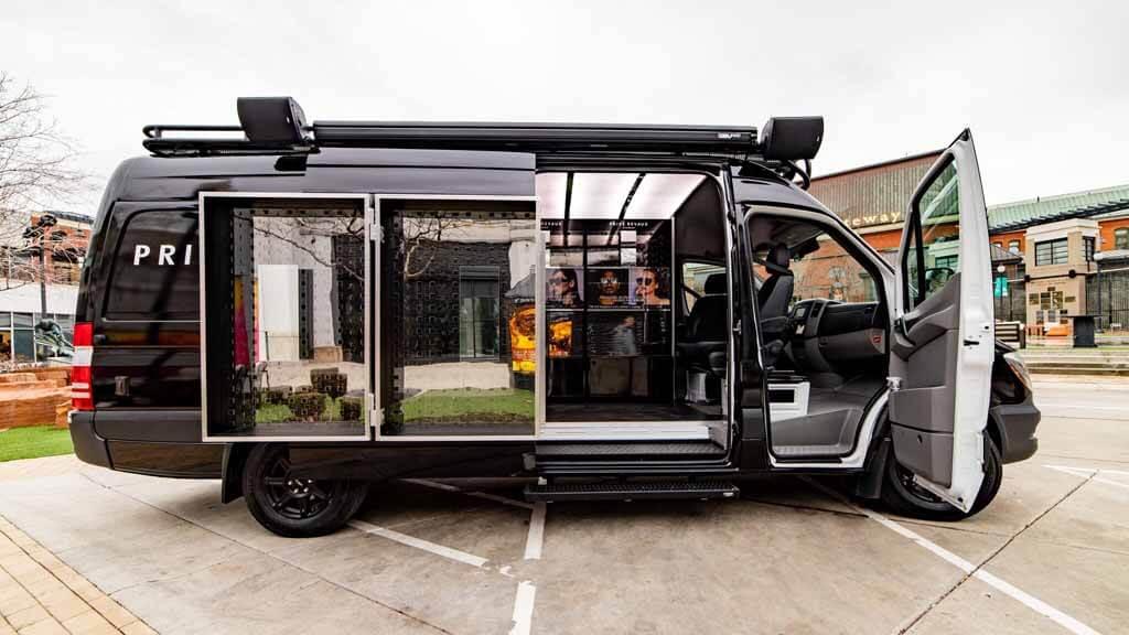 Custom Sprinter Van, Mobile Sunglass Store