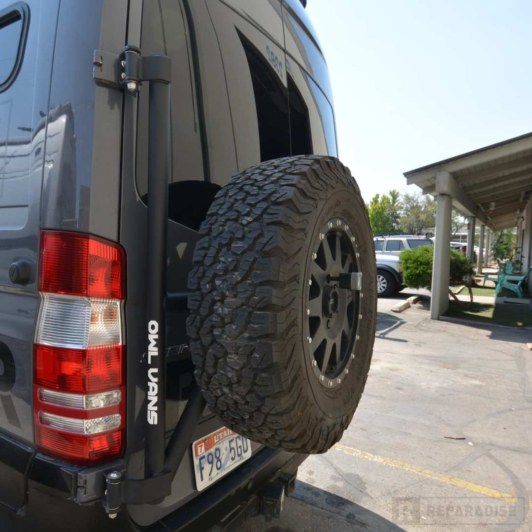 Owl Van Spare Tire Carrier NCV3 Sprinter