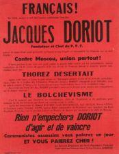 Cartaz do Parti Populaire Français, pregando a união francesa contra o comunismo.