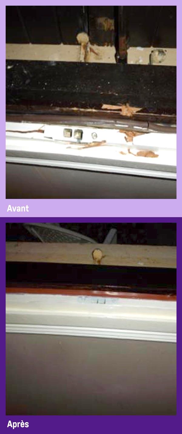 Réparation de menuiserie PVC bois et alu par Gailhard Création de Saint Sulpice dans le Tarn