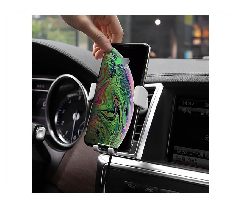 Accesorios para móviles soporte de móvil para coche inalámbrico