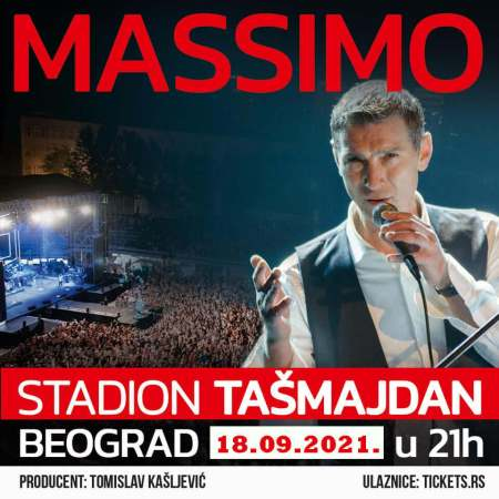 Massimo Koncert Stadion Tašmajdan 2021