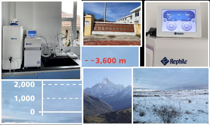water purification system Genie G at 3600 meters altitude