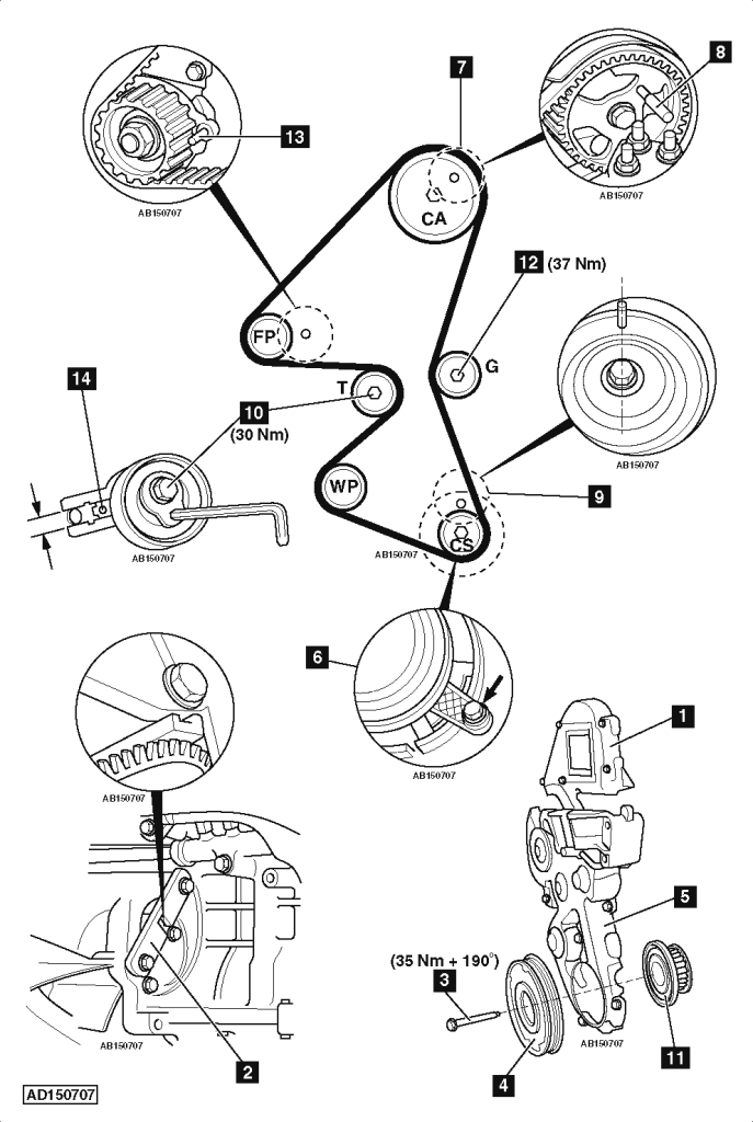 Service manual [How To Replace Timing Belt 2012 Ford Focus