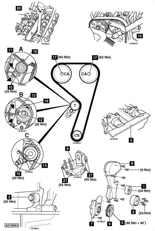 small resolution of how to replace timing belt on ford focus 1 4i 1998 2005 ford taurus serpentine belt diagram 2000 ford focus serpentine belt diagram