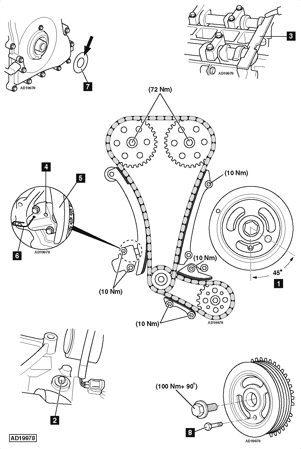 Service manual [1991 Audi 80 Timing Chain Marks