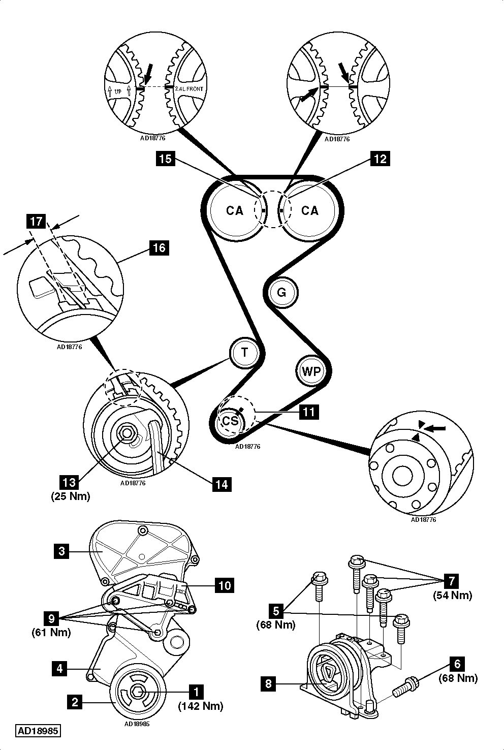 Timing Belt Diagram Maintenance Replacement Page 2