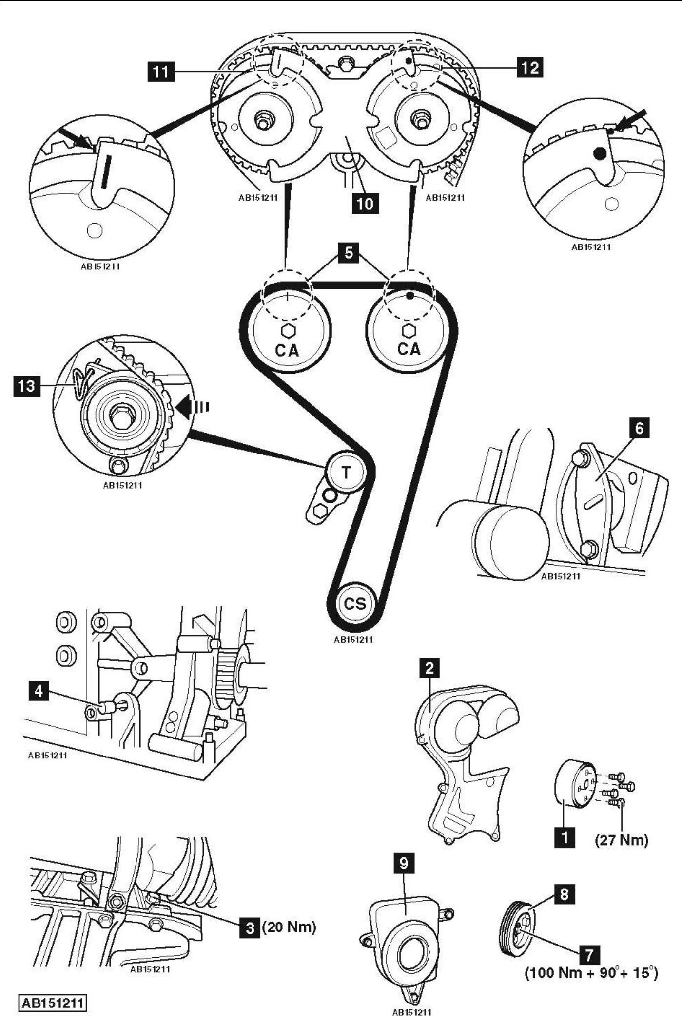 hight resolution of how to replace timing belt on ford focus 1 6 ti vct 2011ford 20 timing belt
