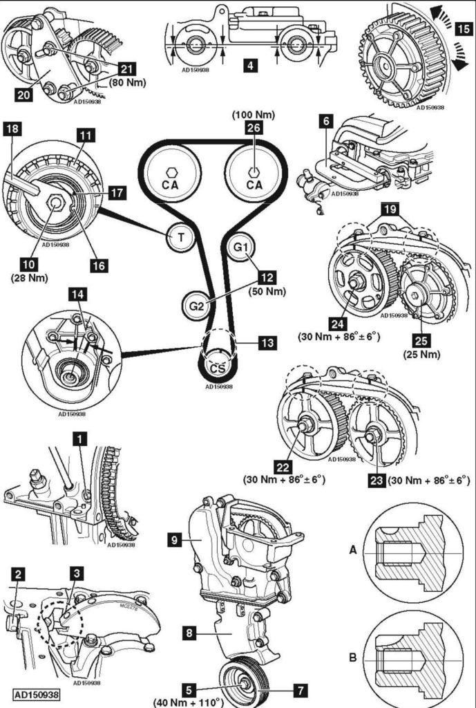 Service manual [How To Replace Timing Belt On A 2001