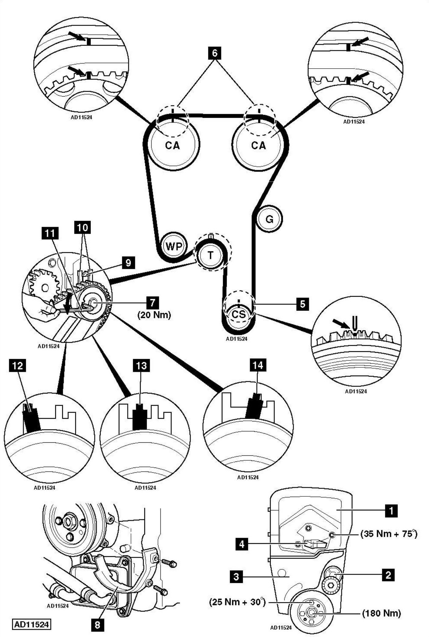 Service manual [2000 Volvo V40 Timing Chain Diagram
