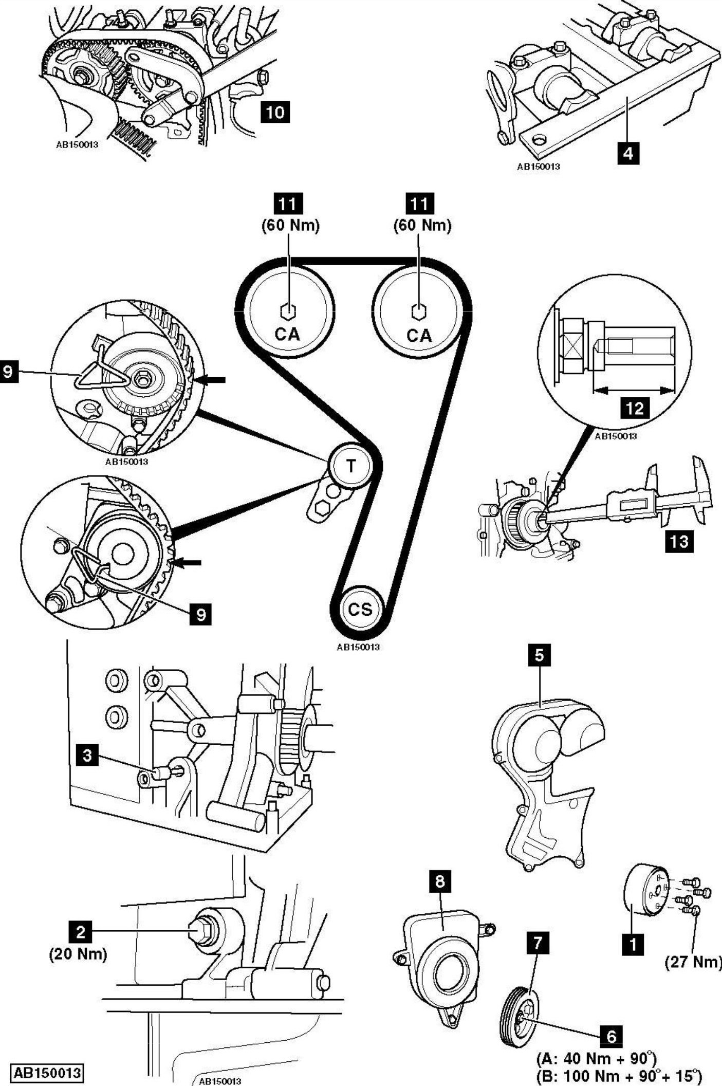 hight resolution of how to replace timing belt on ford c max 1 6 2005