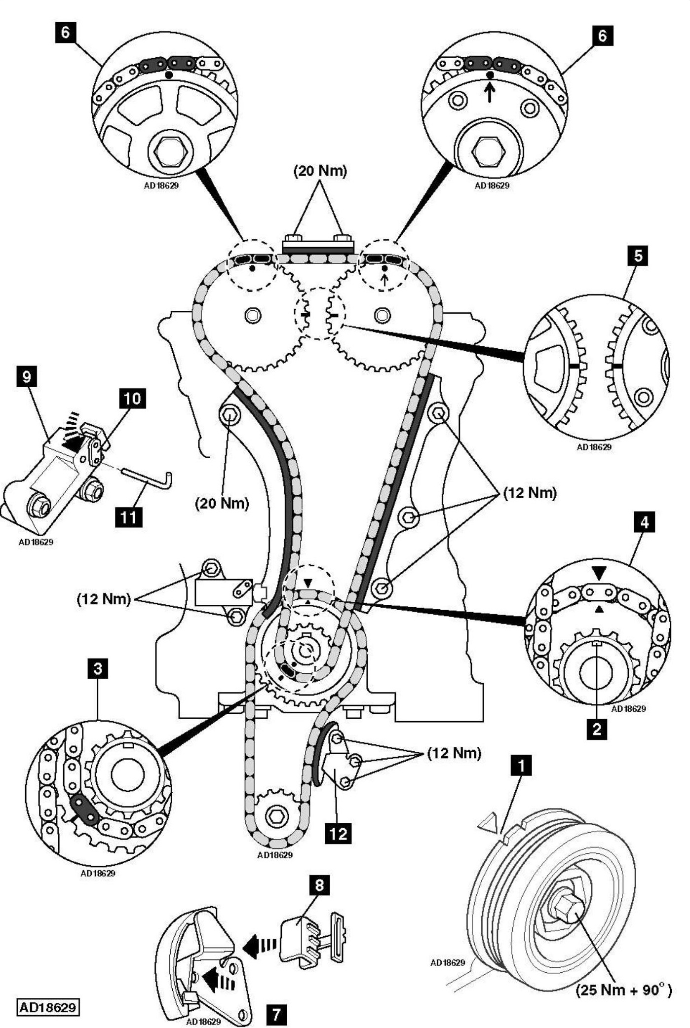 hight resolution of how to replace timing chain on honda accord 2 4 2006 2001 hyundai santa fe serpentine belt diagram 2001 hyundai santa fe serpentine belt diagram