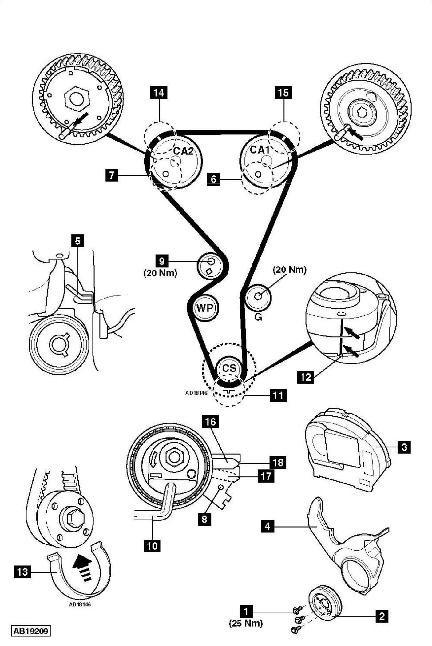 hight resolution of how to replace timing chain on peugeot 207 1 4 16v 2006 rover v8 engine rover